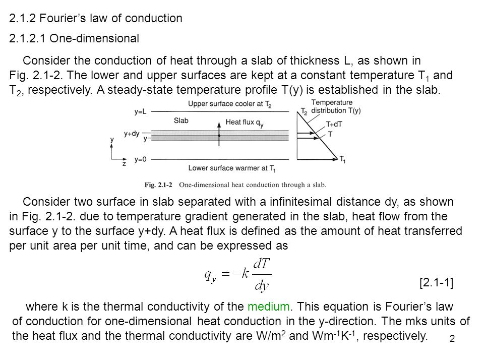 2.1.2 Fourier's law of conduction