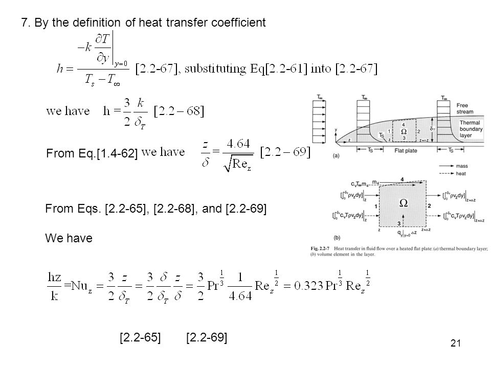7. By the definition of heat transfer coefficient