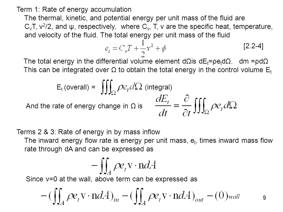Term 1: Rate of energy accumulation