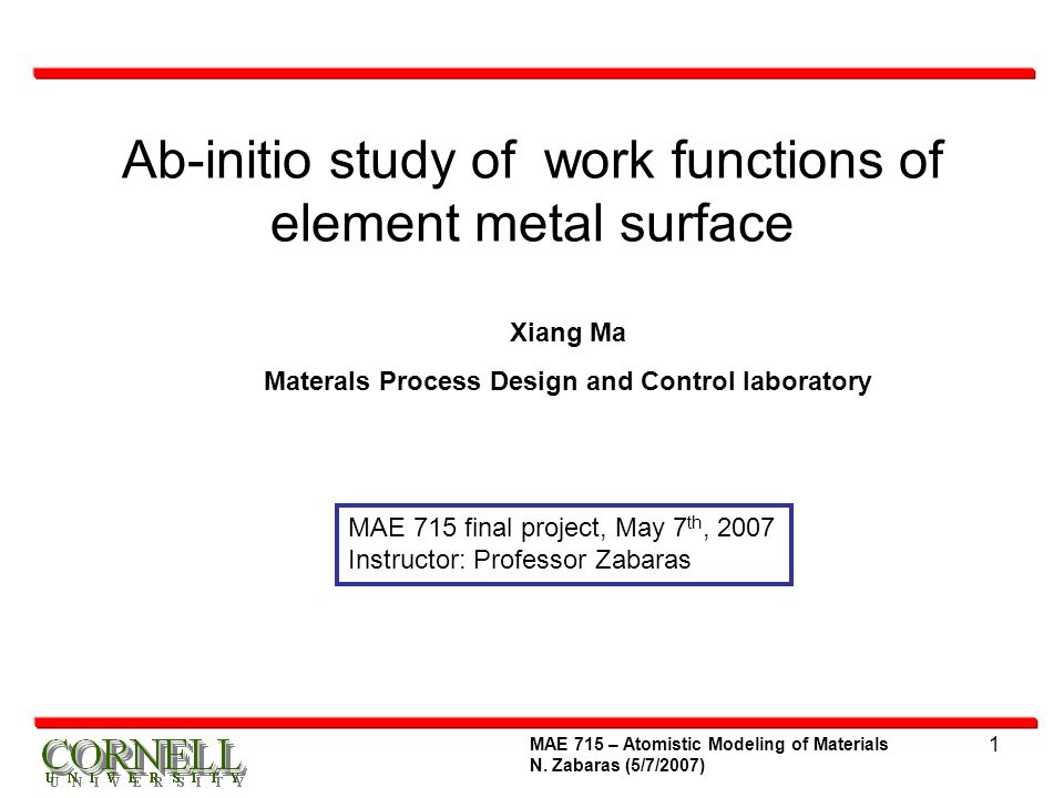 Ab-initio study of work functions of element metal surface