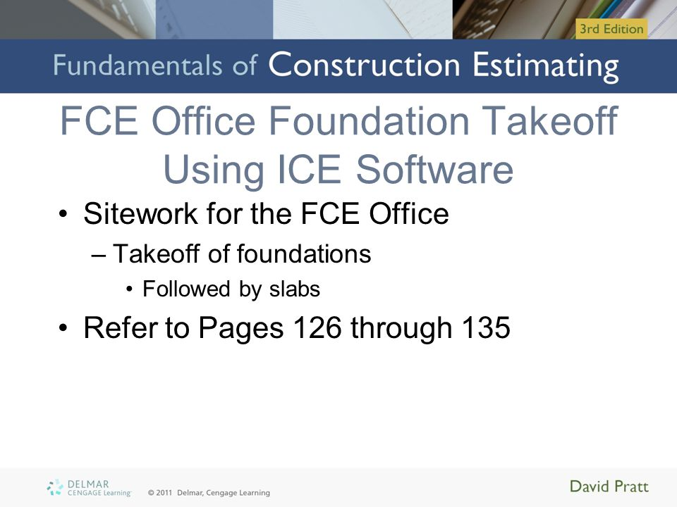 FCE Office Foundation Takeoff Using ICE Software