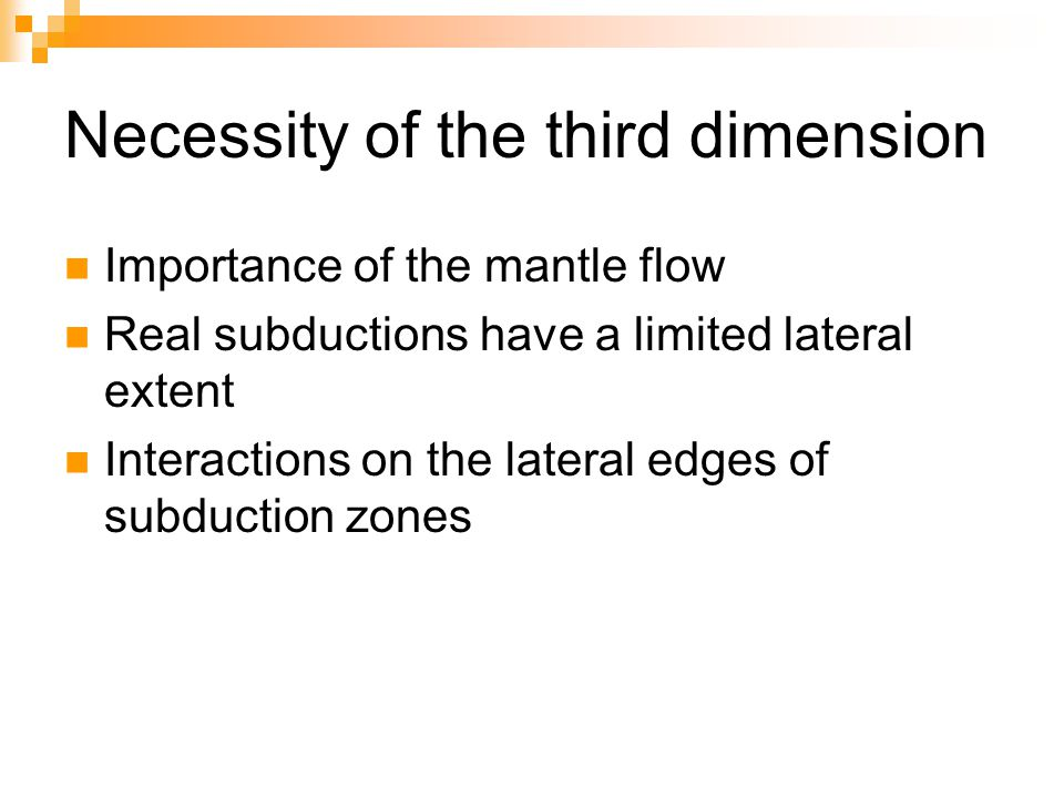Necessity of the third dimension