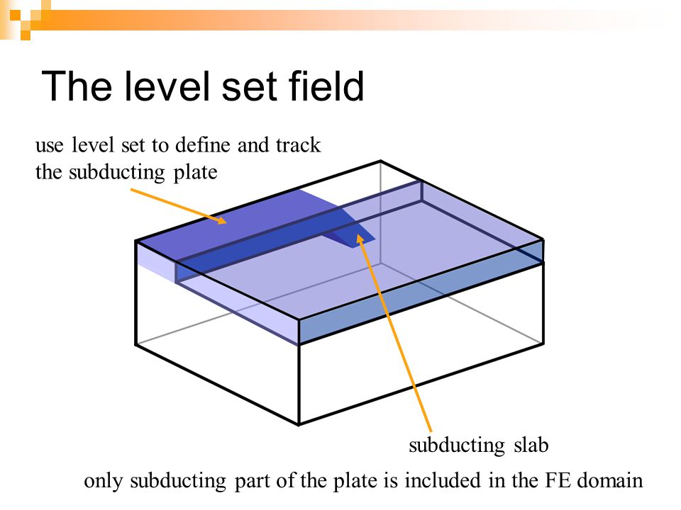 The level set field use level set to define and track