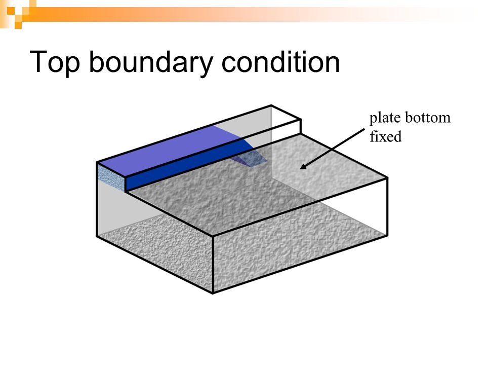 Top boundary condition