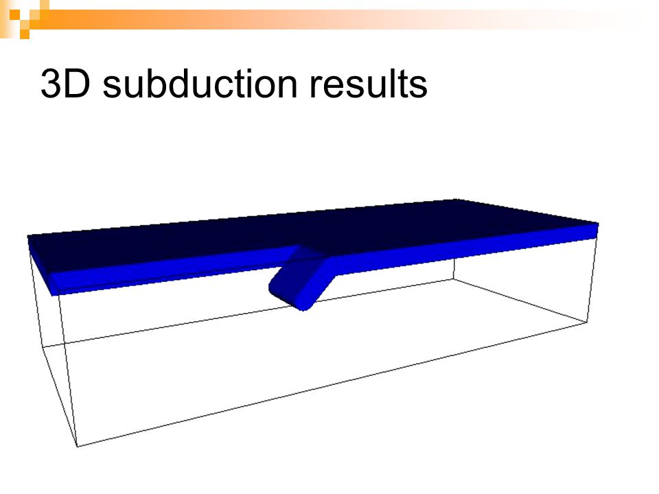 3D subduction results