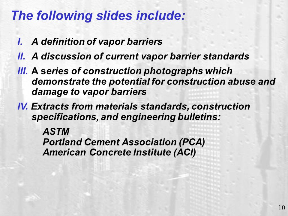 Typical Commercial Grade Vapor Barrier
