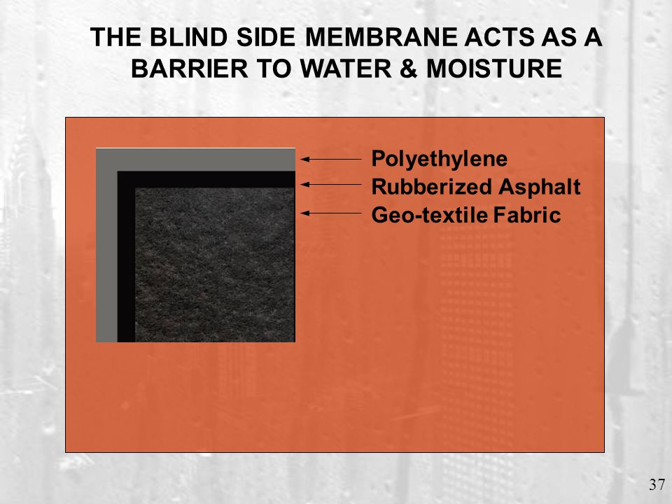 NEGATIVE SIDE MEMBRANE FOUNDATION WALL APPLICATION