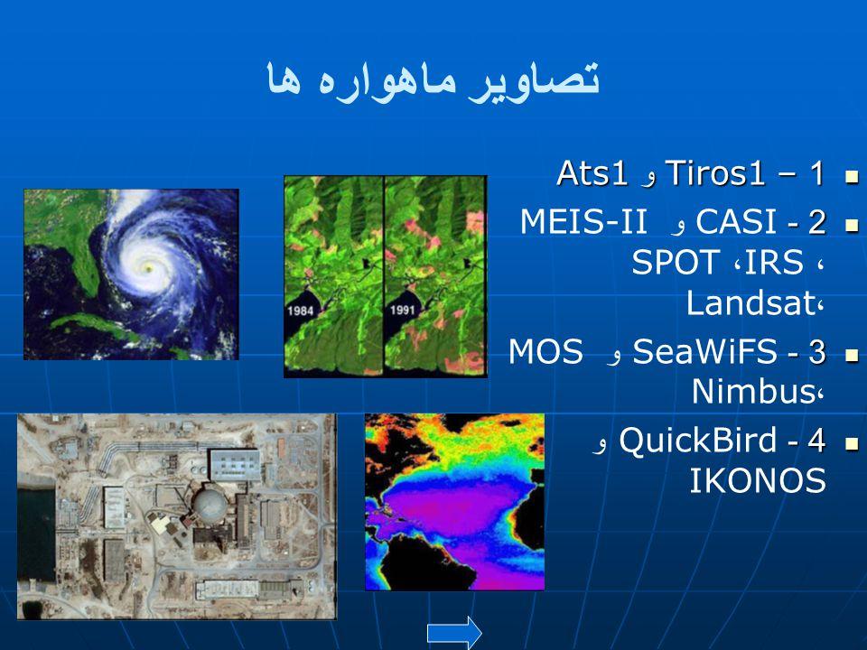 تصاویر ماهواره ها 1 – Tiros1 و Ats1
