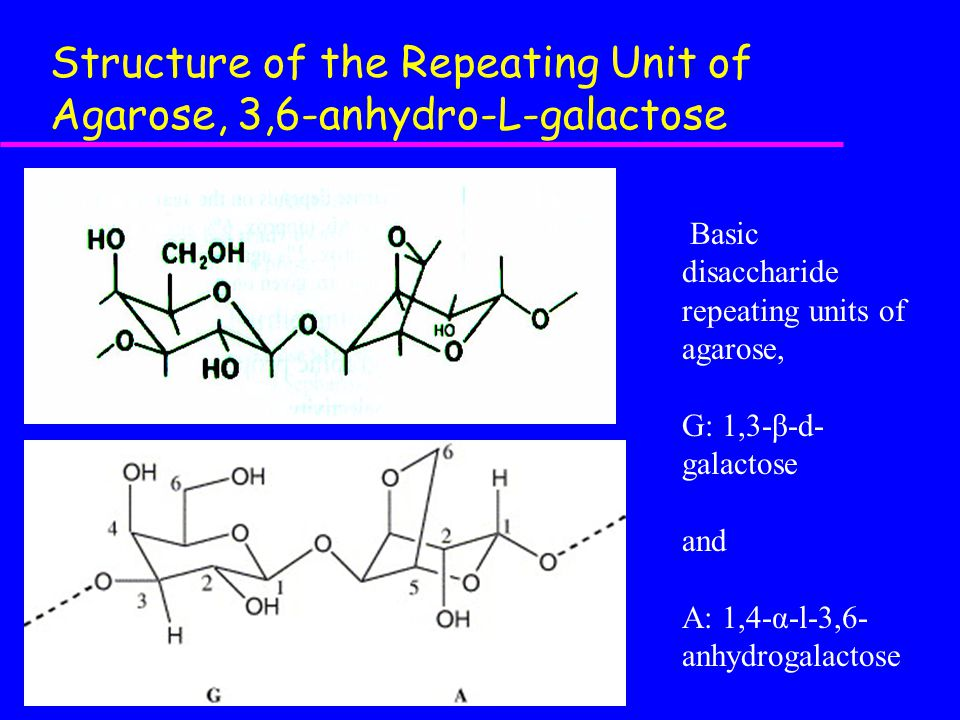 Structure of the Repeating Unit of Agarose, 3,6-anhydro-L-galactose