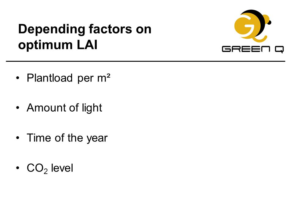Depending factors on optimum LAI