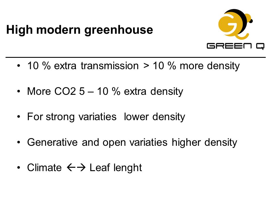 High modern greenhouse