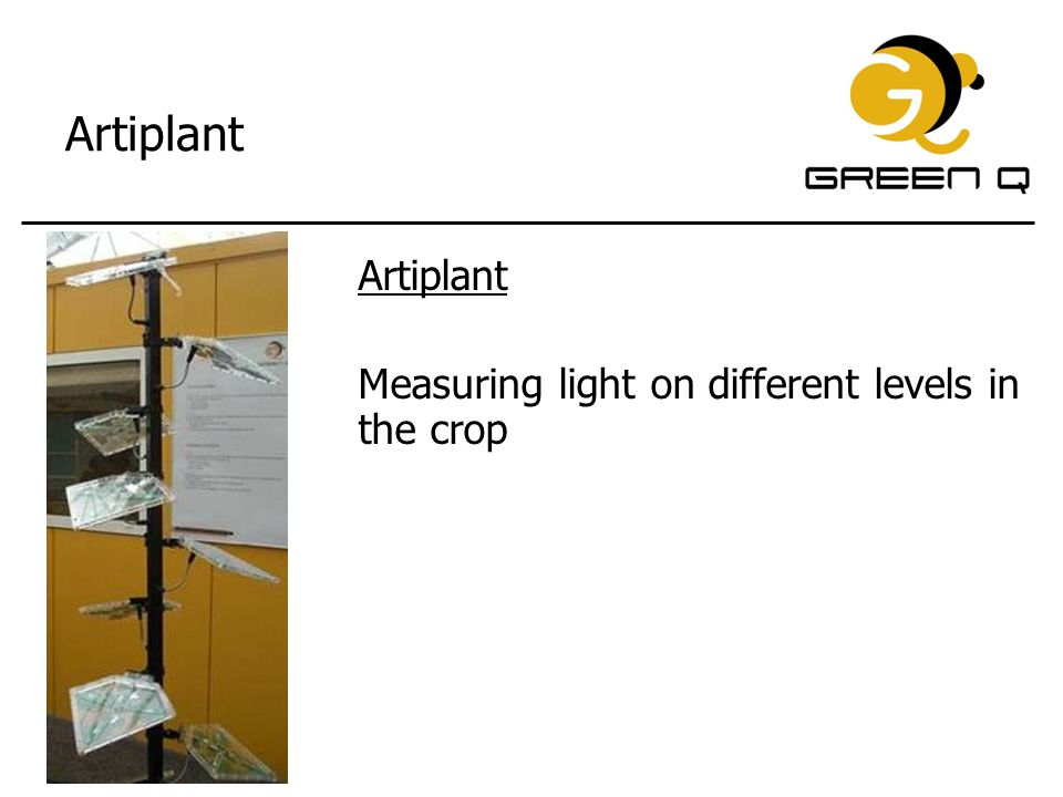 Artiplant Artiplant Measuring light on different levels in the crop