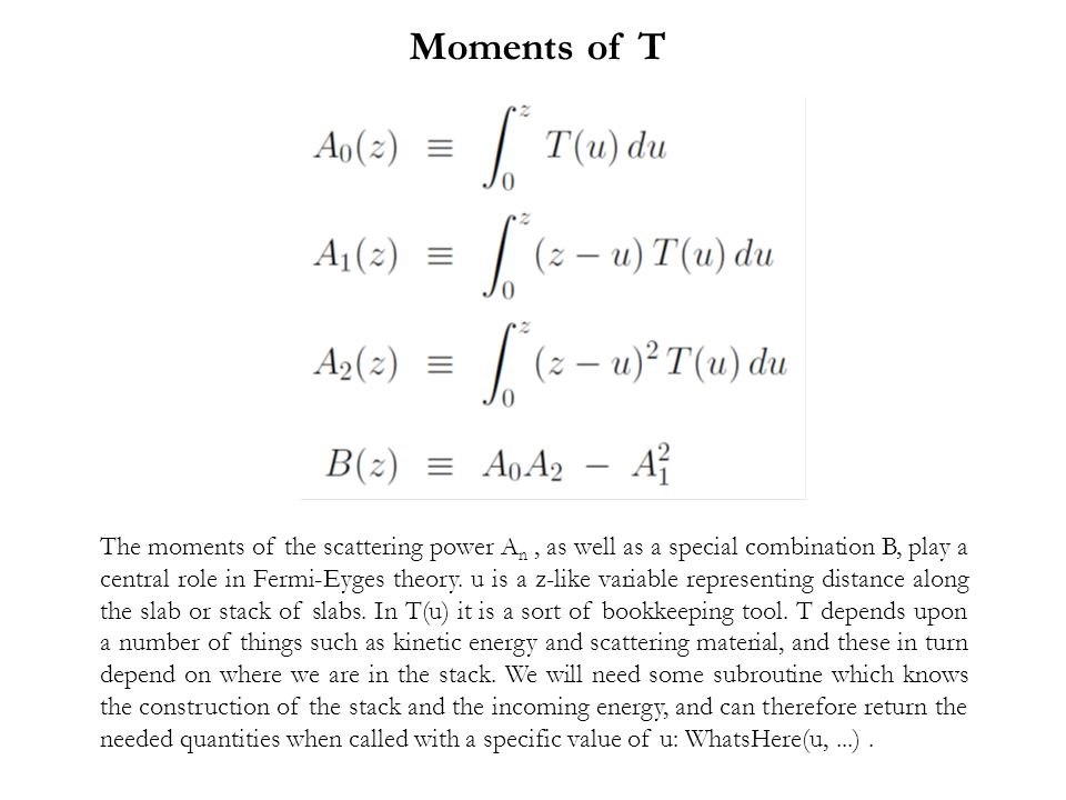 Moments of T