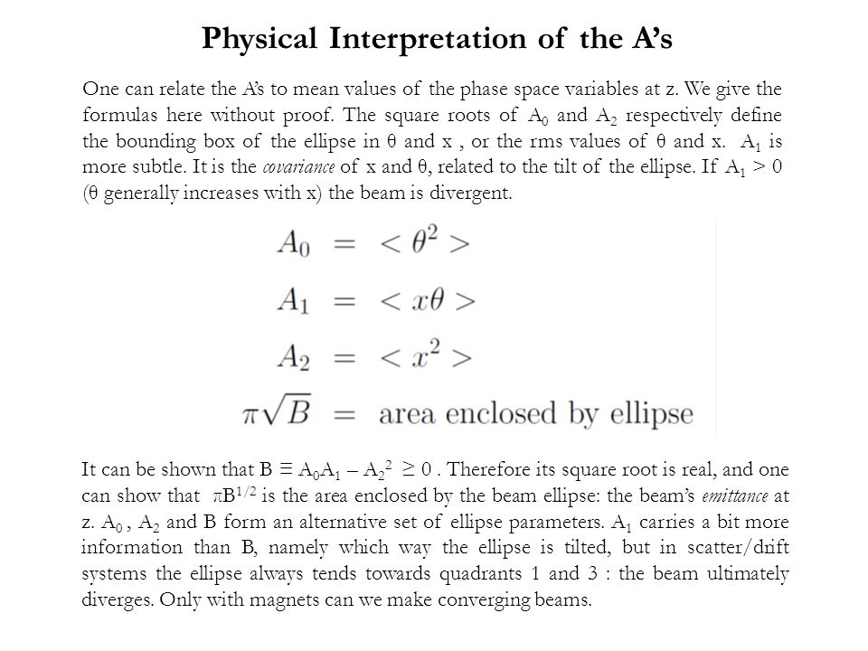 Physical Interpretation of the A's