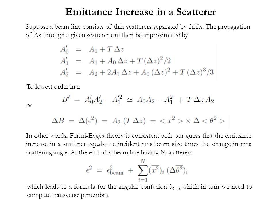 Emittance Increase in a Scatterer
