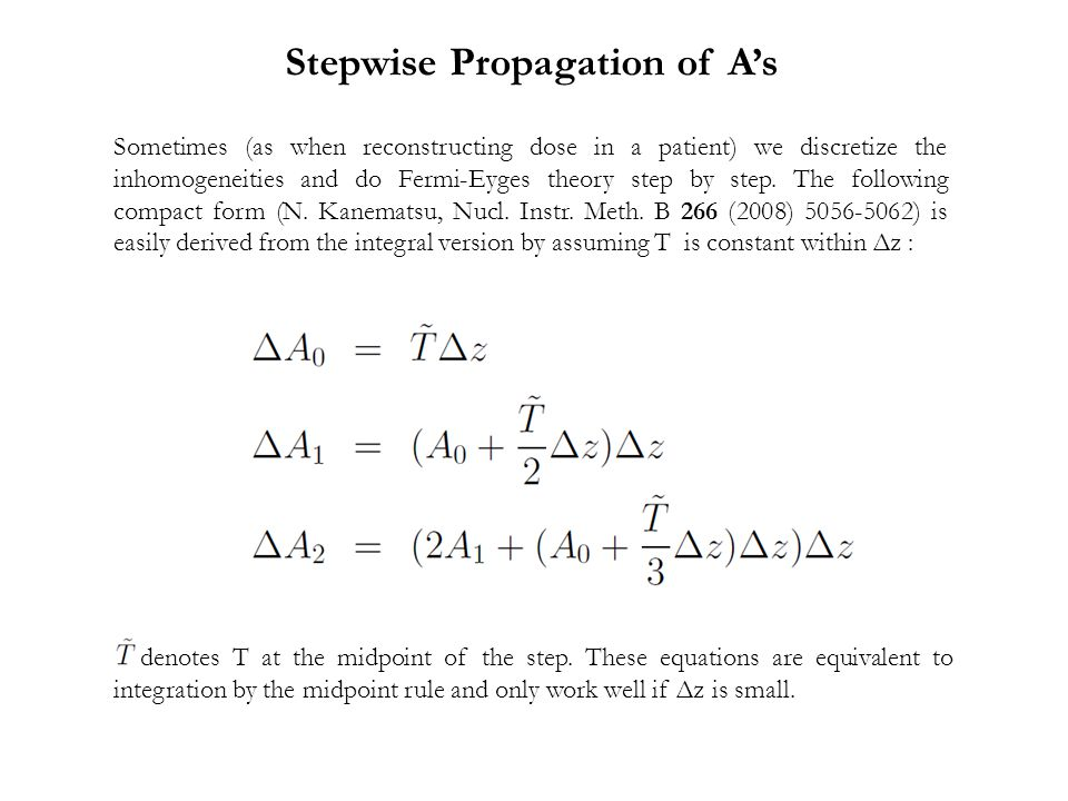 Stepwise Propagation of A's
