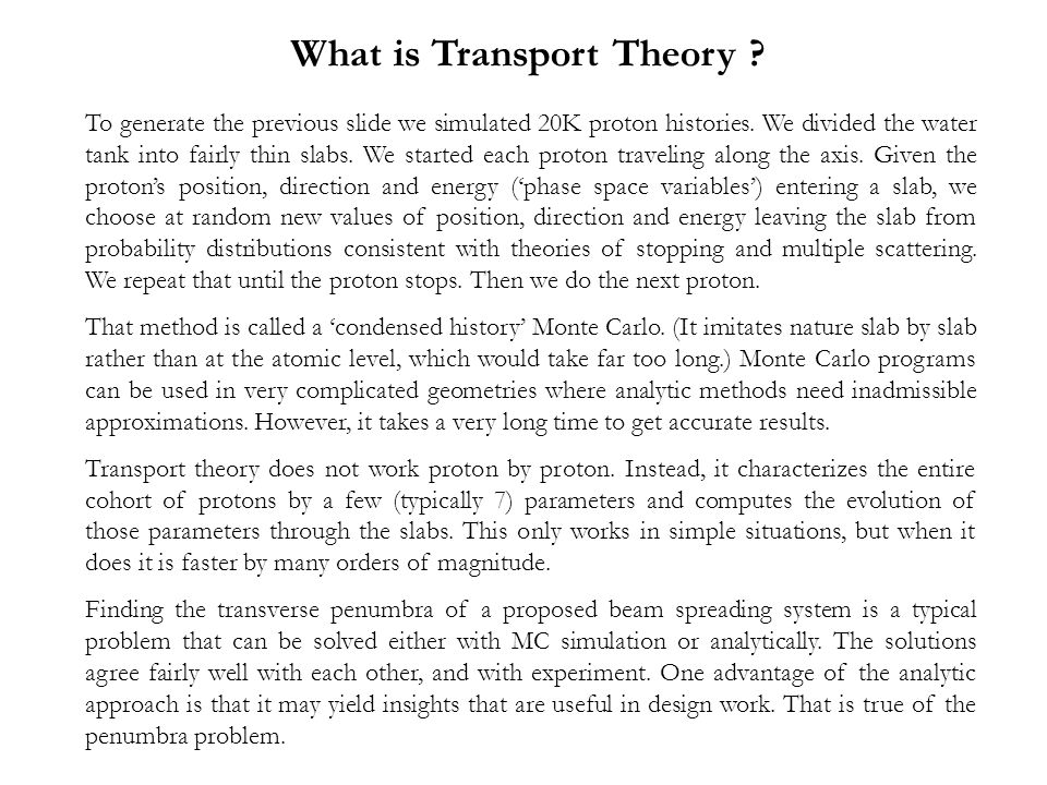 What is Transport Theory