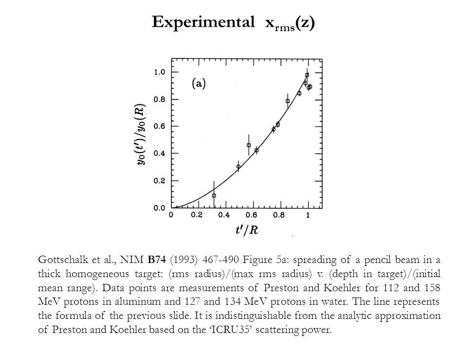 Experimental xrms(z)