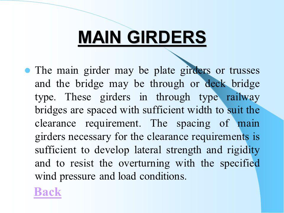 MAIN GIRDERS