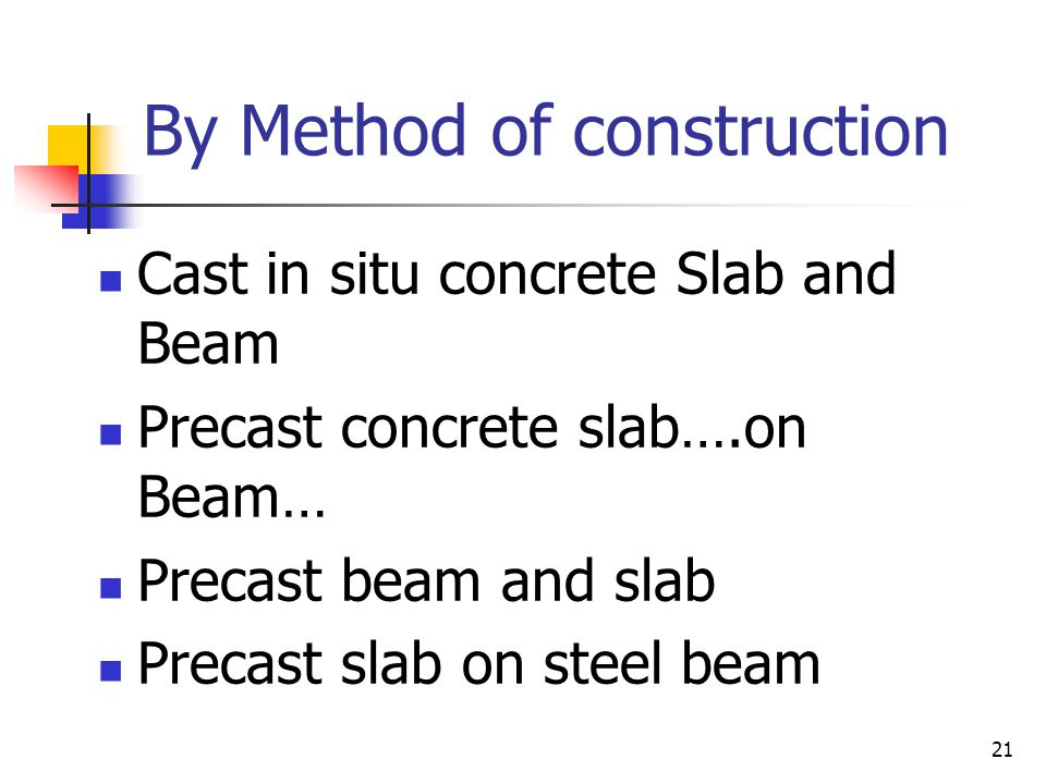 By Method of construction