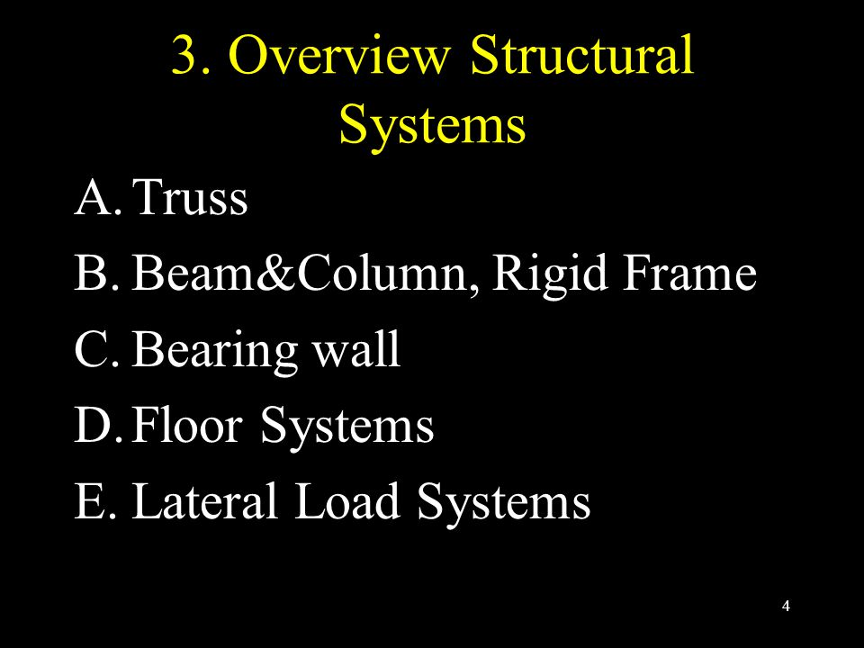 3. Overview Structural Systems