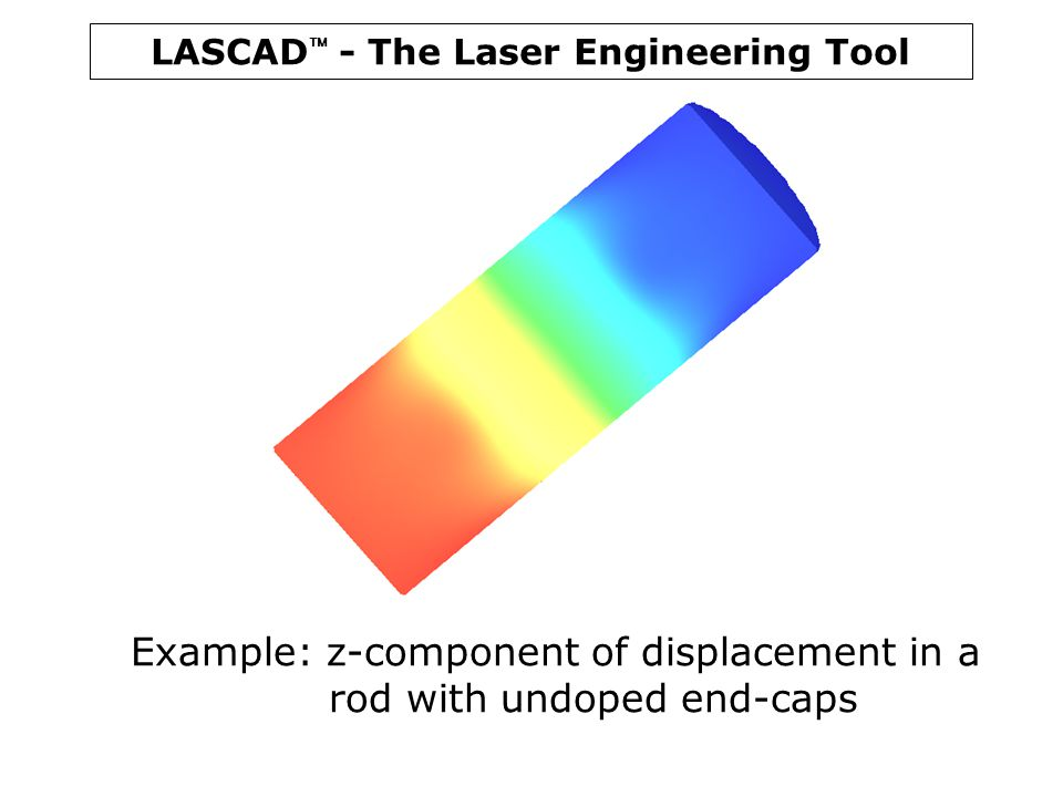 Example: z-component of displacement in a rod with undoped end-caps