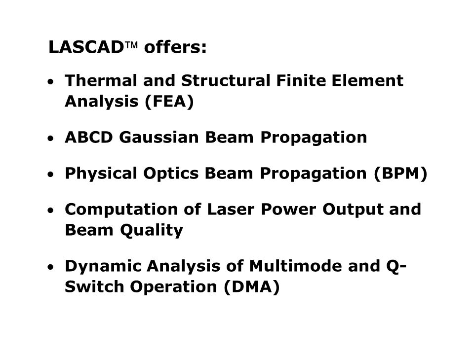 LASCAD offers: Thermal and Structural Finite Element Analysis (FEA)