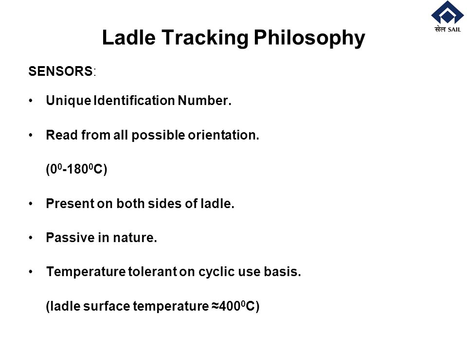 Ladle Tracking Philosophy