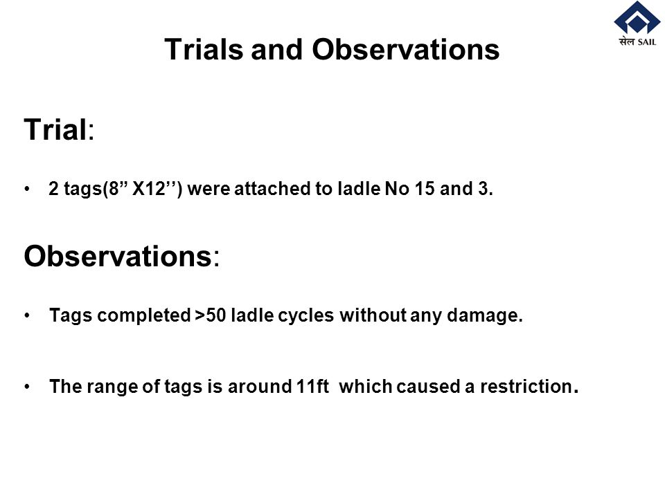 Trials and Observations