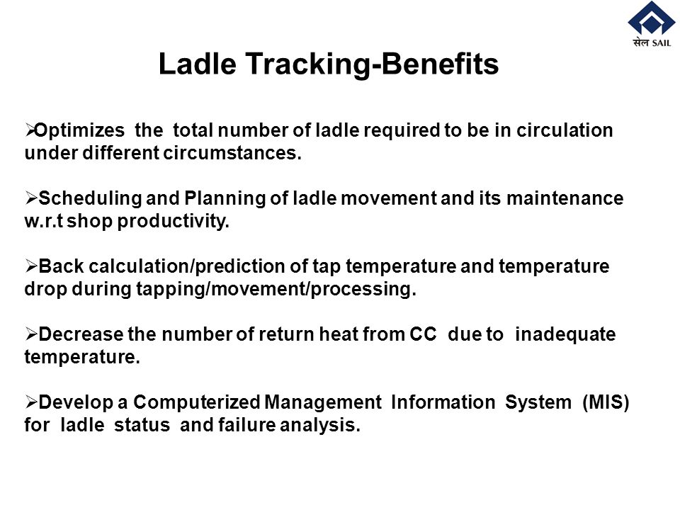 Ladle Tracking-Benefits