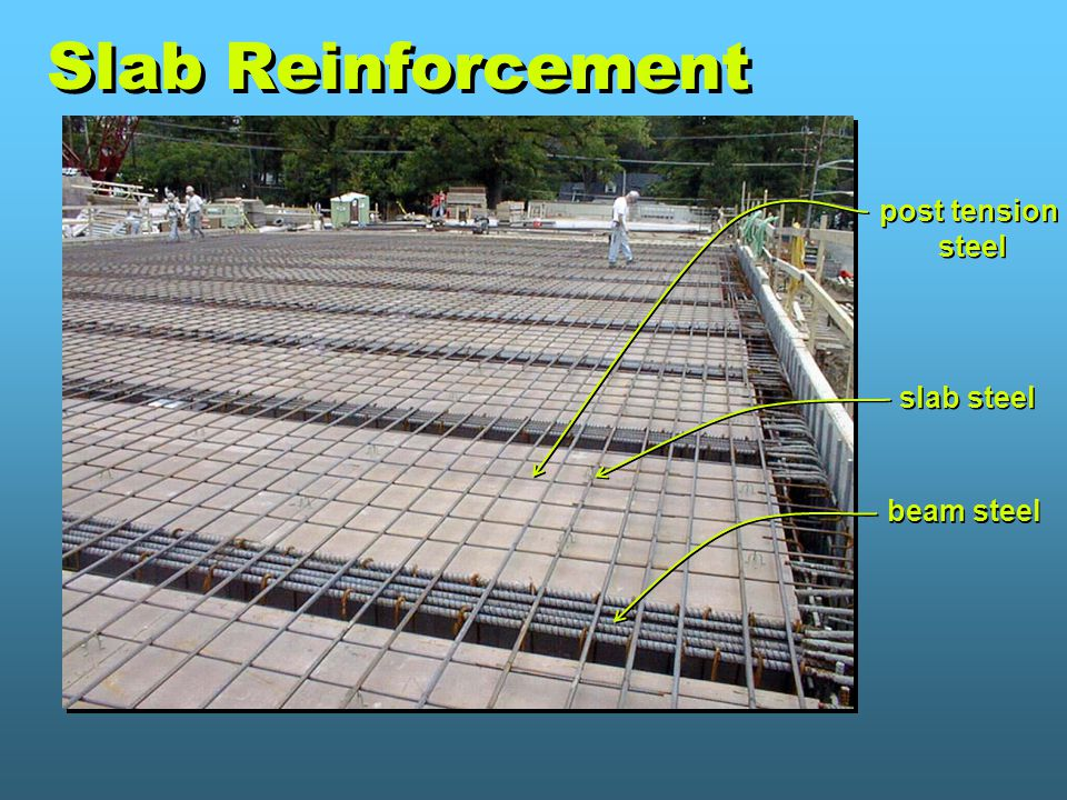 Slab Reinforcement post tension steel slab steel beam steel