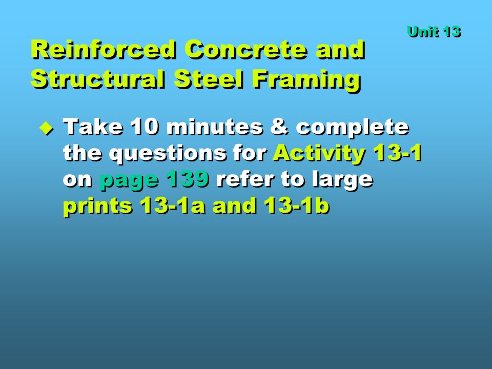 Reinforced Concrete and Structural Steel Framing