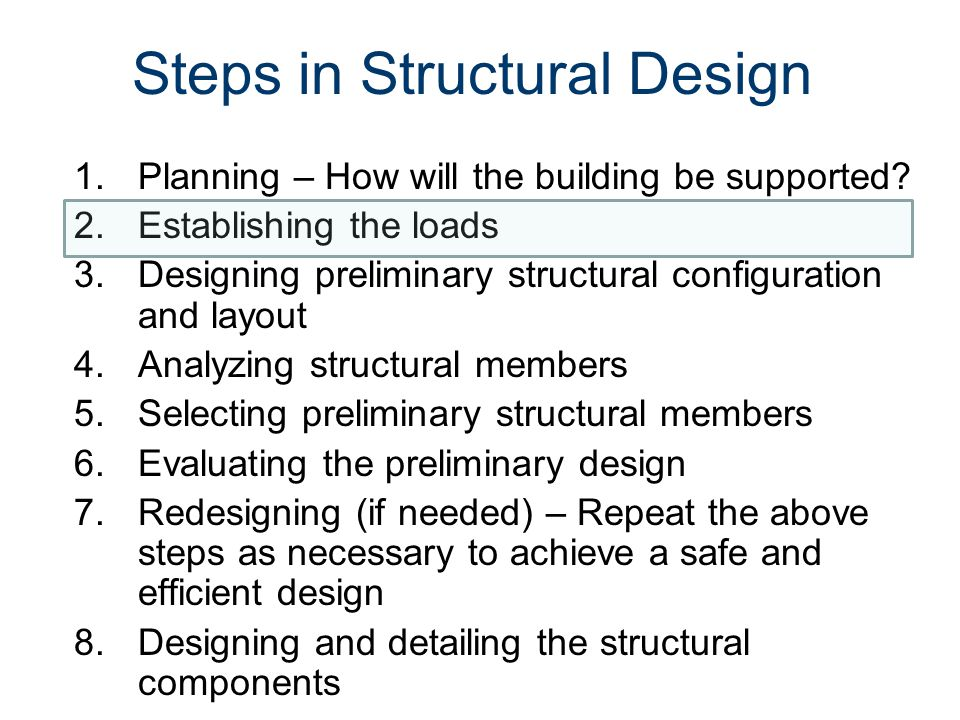 Steps in Structural Design