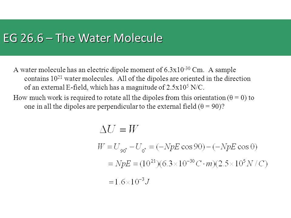 EG 26.6 – The Water Molecule