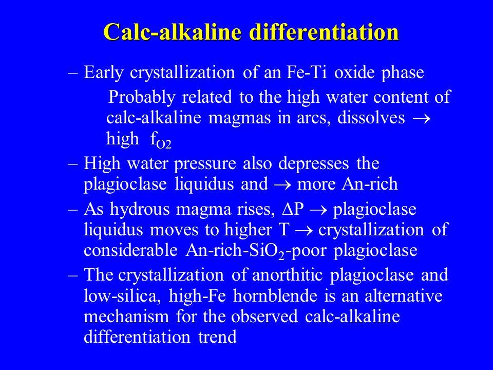 Calc-alkaline differentiation