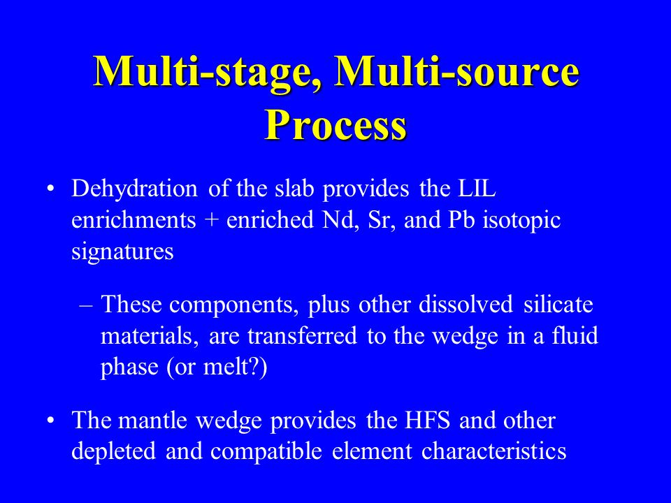 Multi-stage, Multi-source Process