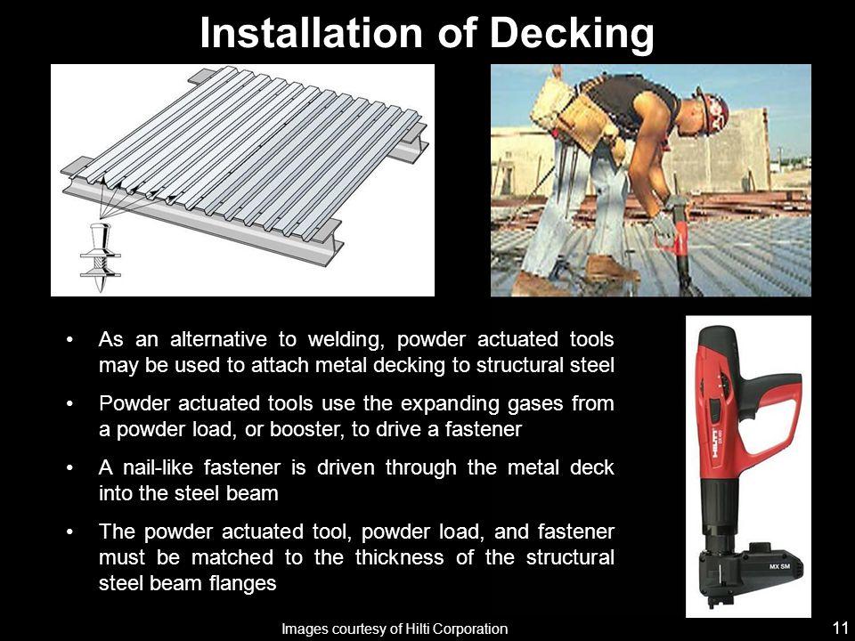 Installation of Decking