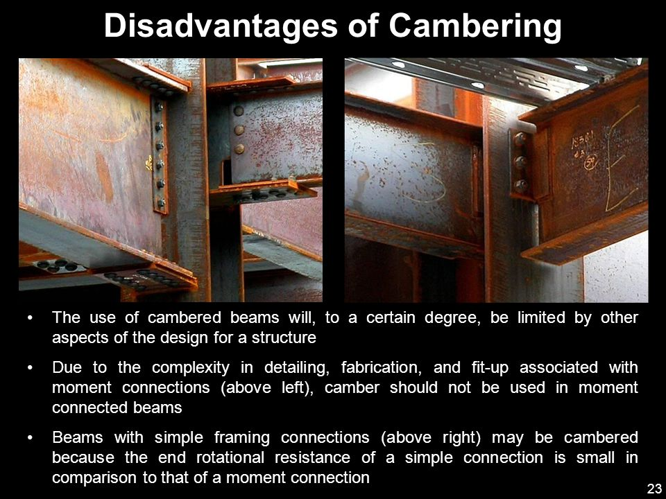 Disadvantages of Cambering