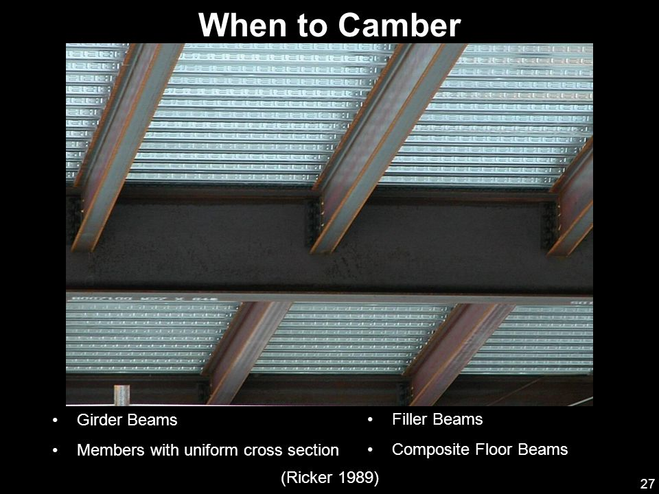 When to Camber Girder Beams Members with uniform cross section