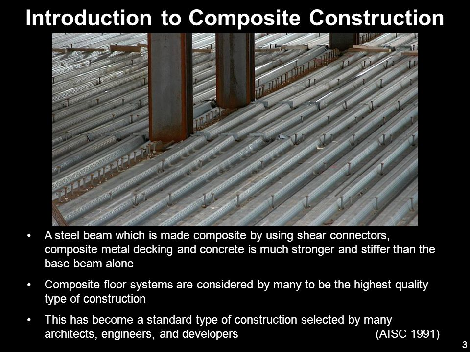 Advantages of composite construction