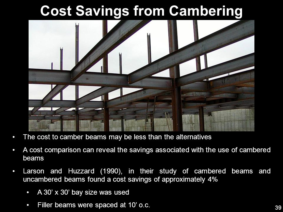 Cost Savings from Cambering