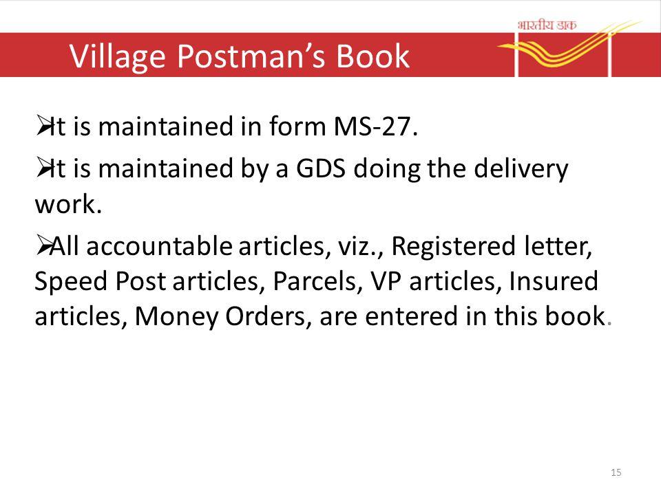 Village Postman's Book