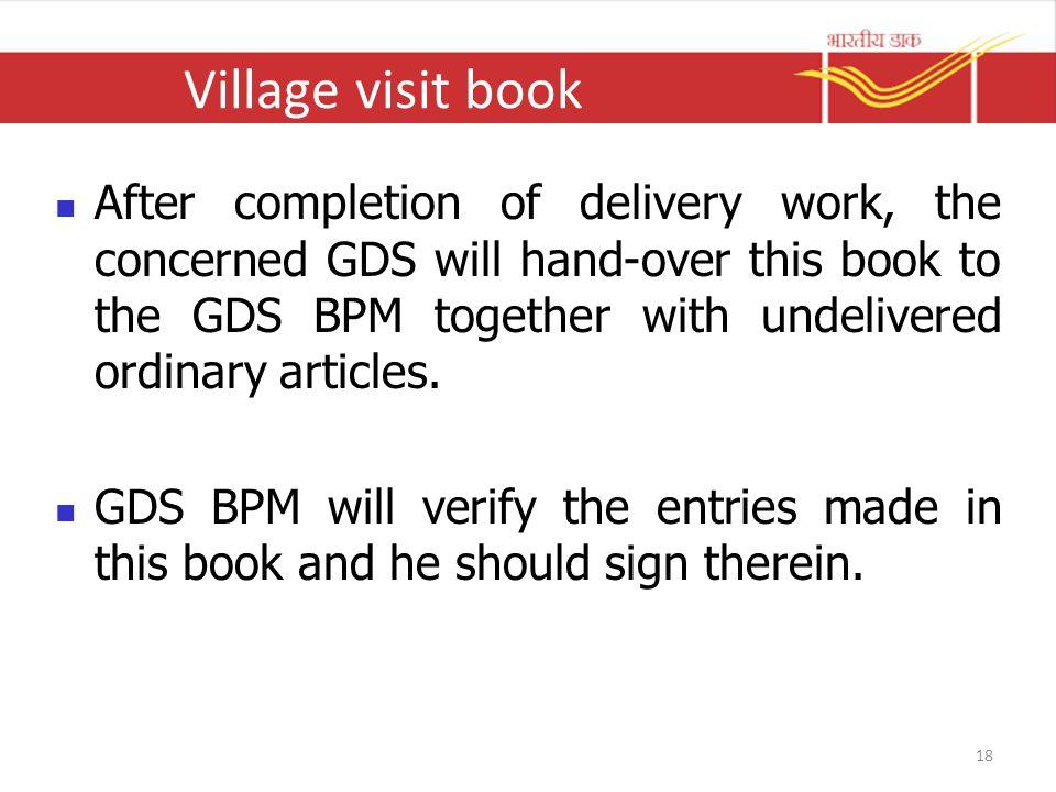 Village visit book