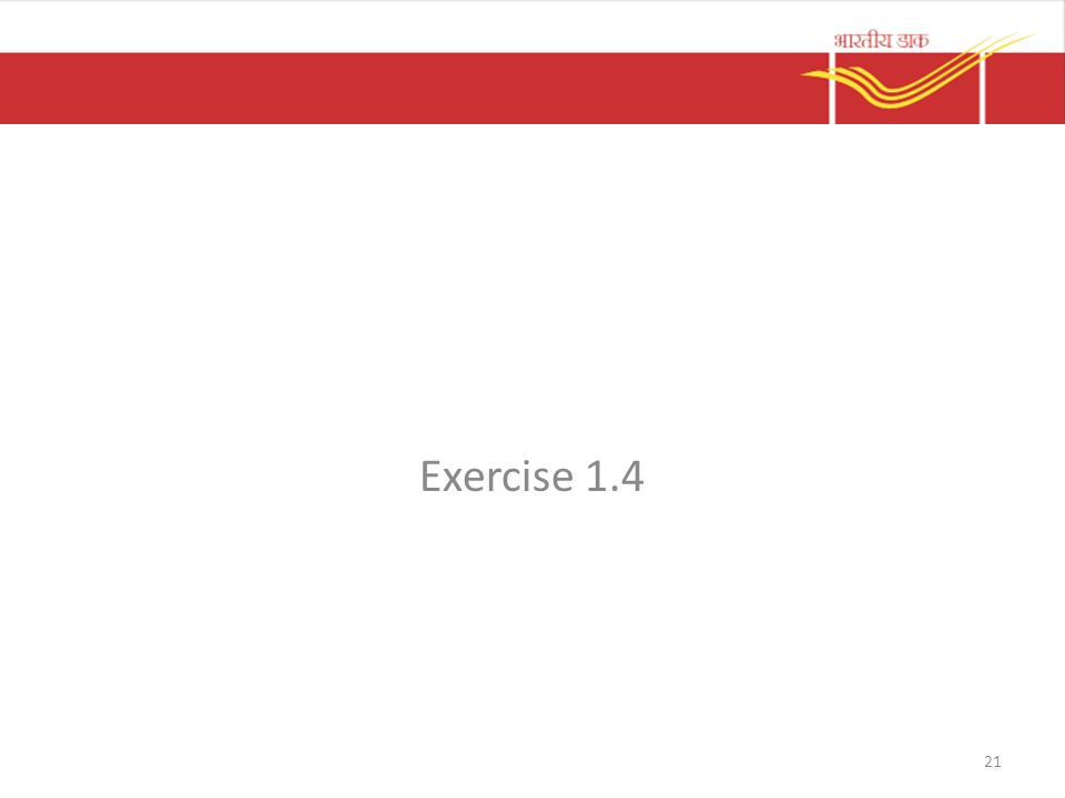 Exercise 1.4