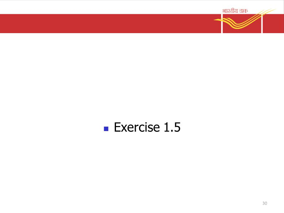 Exercise 1.5