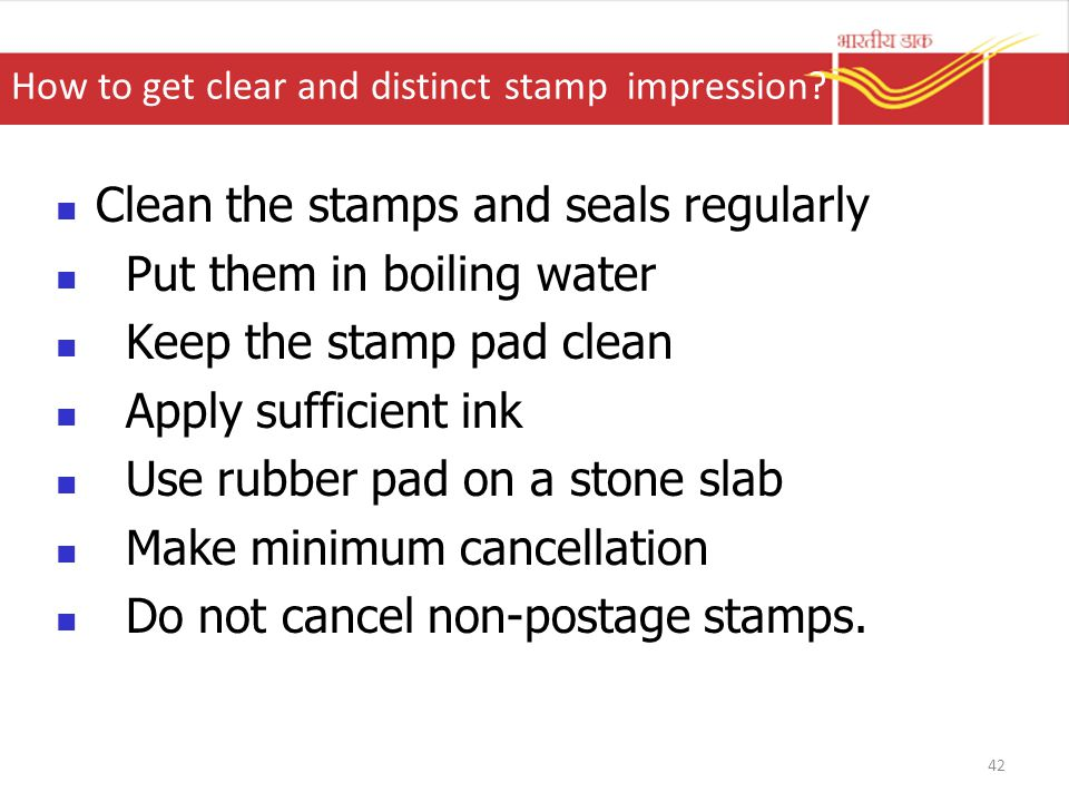 How to get clear and distinct stamp impression