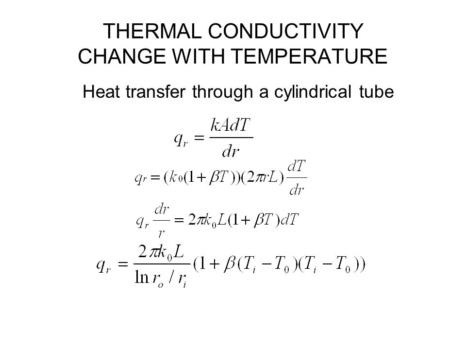 THERMAL CONDUCTIVITY CHANGE WITH TEMPERATURE