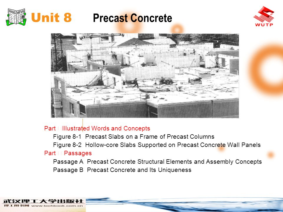 Unit 8 Precast Concrete Part ⅠIllustrated Words and Concepts