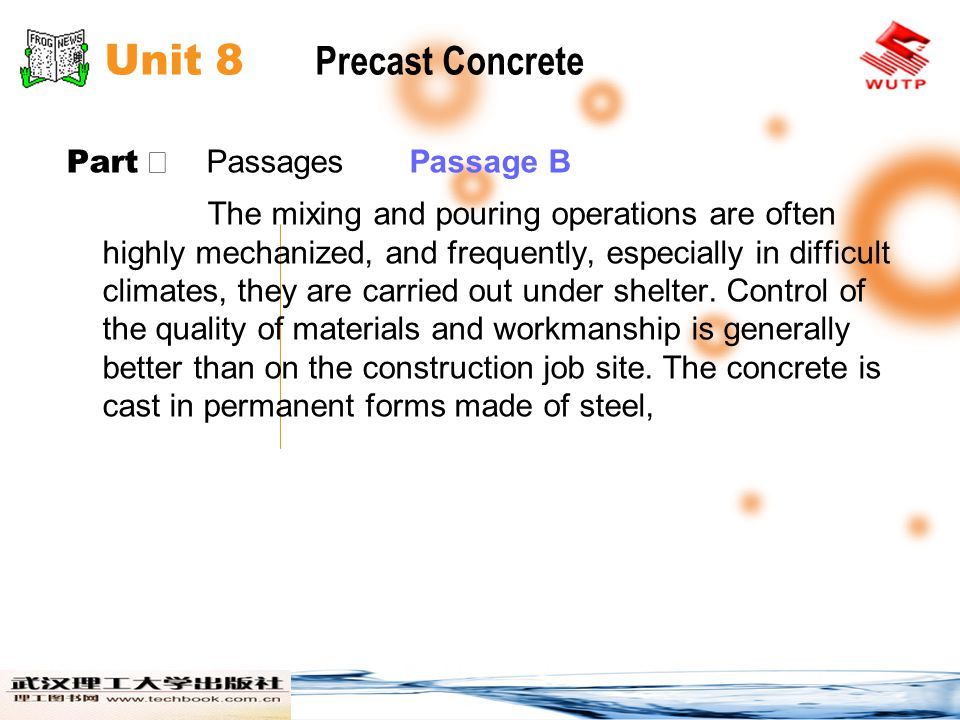 Unit 8 Precast Concrete Part Ⅱ Passages Passage B