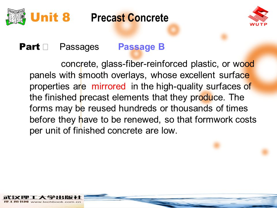 Unit 8 Precast Concrete Part Ⅱ Passages Passage B.